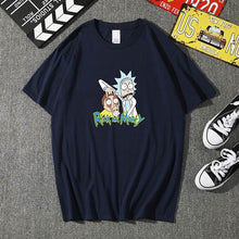 Load image into Gallery viewer, Summer 100% cotton Rick And Morty T Shirts Men Chicken Brothers Man T-shirts Sitcoms Short Sleeve O Neck Cotton Shirts