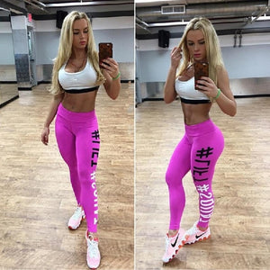 Women Sports Pants Fitness Compression Leggings Running Gym Trousers Sportware Yoga Pant Printed Tight Pant