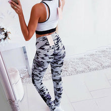 Load image into Gallery viewer, 2019 Gym Pants Women Srtriped Printed Leggings Slim Fitness Women Sexy Mesh Yoga Pants Gym Running High Waist Leggings Workout