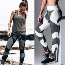 Load image into Gallery viewer, Breathable Women Sport Long Pants Digital Printed Design Lady Tight Running Yoga Sport Trousers Gym Leggings Pants Drop Shipping