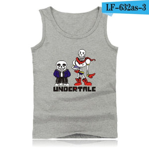 Skull Brother Undertale Muscle Tank Tops for Men Sleeveless Shirts and Undertale Sans Plus Size Summer Vests Men