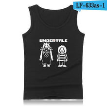 Load image into Gallery viewer, Skull Brother Undertale Muscle Tank Tops for Men Sleeveless Shirts and Undertale Sans Plus Size Summer Vests Men