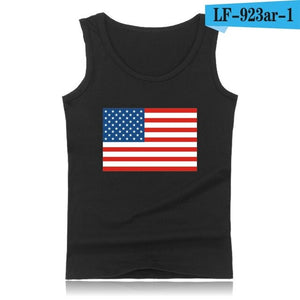 Canadian Flag Casual Tank Top Men Fashion Black  Bodybuilding Shirt Sleeveless Canada Flay White XXS-4Xl Size  Summer Vest