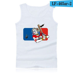 Anime Suicide Squad Harley Quinn Tank Top Men  Fitness and Sleeveless Bodybuilding Shirt in 4XL  Clothing Summer Vests