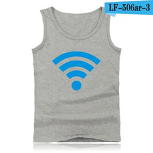 Load image into Gallery viewer, Funny Free WiFi Tank Tops Men Sleeveless Shirt and Bodybuilding Summer Vests in Plus Size Clothing
