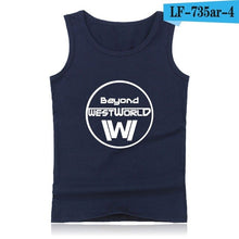 Load image into Gallery viewer, WESTWORLD Fashion Cotton Tank Top Men Sleeveless Shirt Clothing and West World Plus Size Summer Vests XXS 4XL