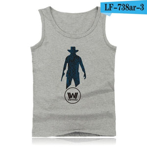 WESTWORLD Fashion Cotton Tank Top Men Sleeveless Shirt Clothing and West World Plus Size Summer Vests XXS 4XL