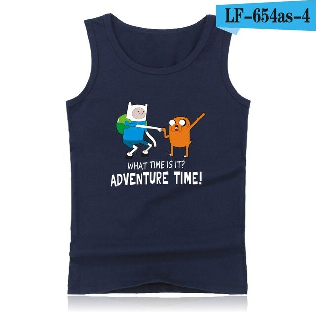Adventure Time XXS 4XL Summer Tank Top Men Vests and Anime Adventure Time Plus Size Sleeveless Shirts Summer Style
