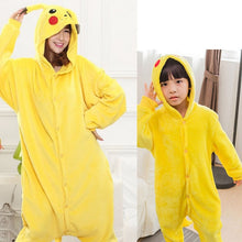 Load image into Gallery viewer, Kid Adult Pikachu Kigurumi Onesie Women Animal Costume Fancy Soft Anime Pokemon Cosplay Onepiece Child Boy Girl Winter Jumpsuit