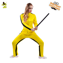 Load image into Gallery viewer, Woman Yellow Kill Bill Costumes Halloween Party Fearful Killer the Bride Cosplay Fancy Outfits for Adult Female