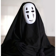 Load image into Gallery viewer, Anime Movie Spirited Away No Face Man Cosplay Costume Full Set Halloween Costume Robe + Gloves + Black/Purple Mask