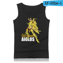 Load image into Gallery viewer, Plus Size Anime Gold Saint Seiya Cotton Tank Top Men Brand Hip Hop Sleeveless Shirt and Cartoon Summer Vests XXS 4XL
