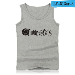 Thundercats Street Wear Style  Tank Tops Men Sleeveless Shirts and Thunder Cats Bodybuilding Clothing in Summer Vests
