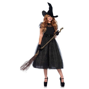Halloween Sexy Witch Costumes Adult Women Queen Carnival Party Cosplay Fancy Dress
