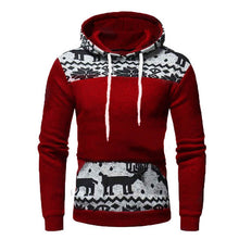 Load image into Gallery viewer, Newly Design Hoodies Men Sweatshirt Fashion Moose Deer Print Men Sweatshirt Tracksuits Slim Fit Shirts Man Autumn Winter Jackets