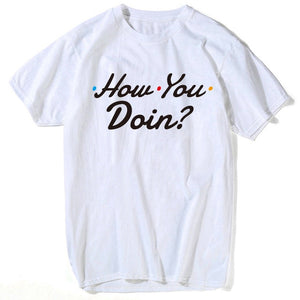how you doin friends T shirt men top tee shirt nightmare before christmas plus size star wars t shirt men compression shirt