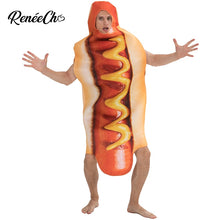 Load image into Gallery viewer, Halloween Costume For Men Hot Dog Costume Funny Hotdog Food Cosplay carnival costume adult mens party cosplay holiday costume