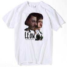 Load image into Gallery viewer, The Professional Leon Matilda T Shirt Men Fashion Cartoon Funny Skateboard T-shirt Women summer white tops Short Sleeve Top Tees