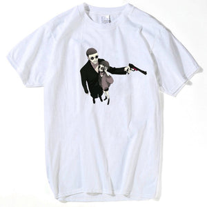 The Professional Leon Matilda T Shirt Men Fashion Cartoon Funny Skateboard T-shirt Women summer white tops Short Sleeve Top Tees