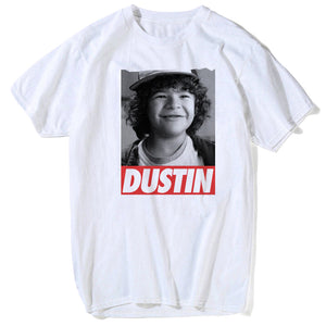 2018 fashion stranger things t shirt dustin eleven stranger-things men t-shirt funny tee shirts hawkins male summer white tops