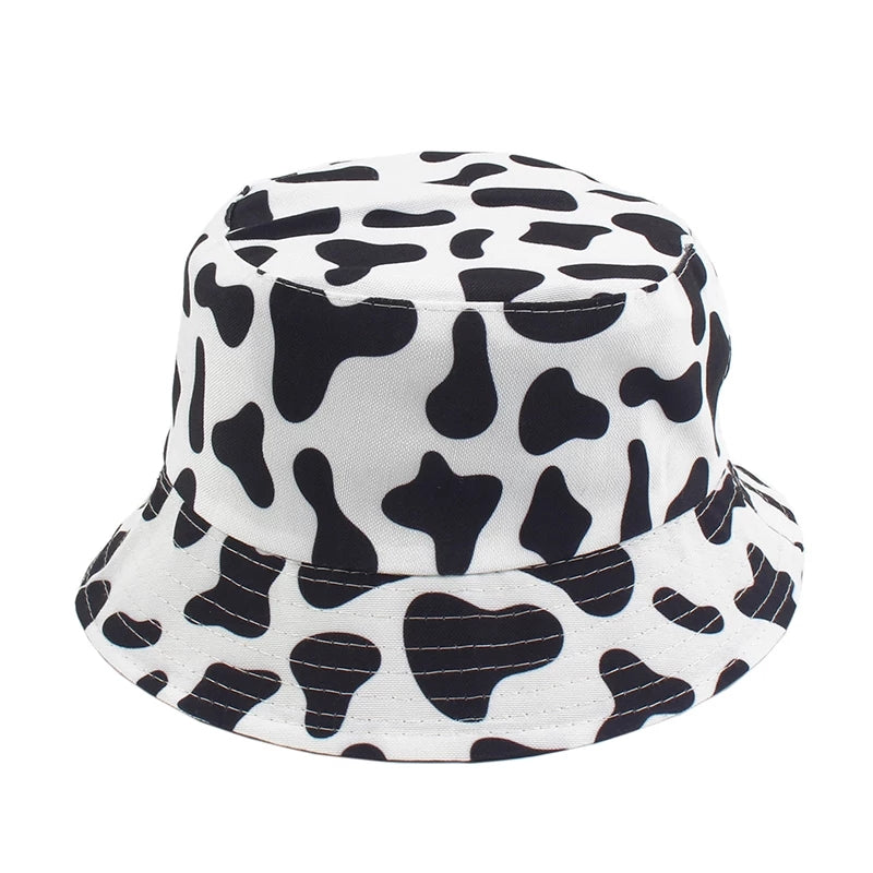 Double Sided Unisex Cow Print Bucket Hat