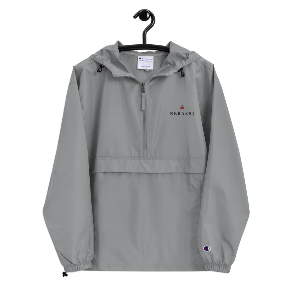 """Kerassi On Top"" Embroidered Champion Packable Jacket - Kerassi"