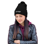 """Savage"" Unisex Pom-Pom Beanie One Size Fits All"