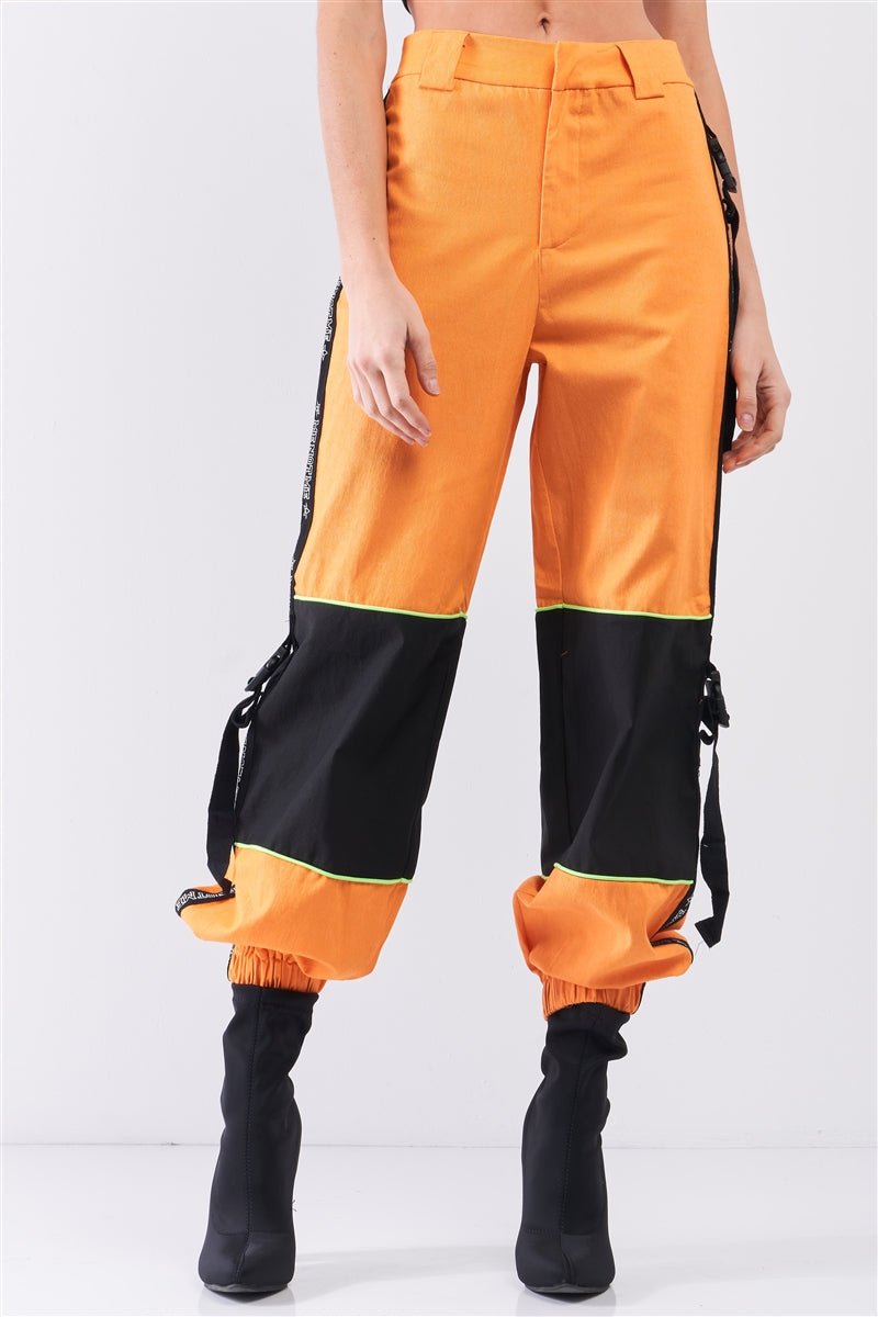 High Waist Women's Racetrack Cargo Pants