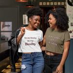 """Be my Sunday to my Monday"" Women's Crop Tee Top - Kerassi"