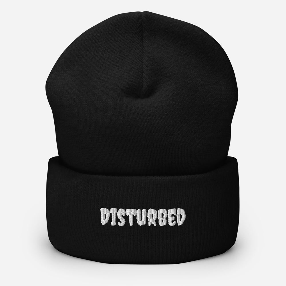 Disturbed Embroidered Unisex Cuffed Beanie - Kerassi