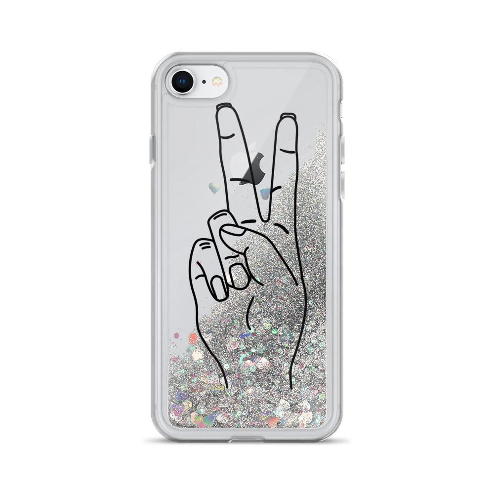 "Liquid ""Glitter Peace"" Phone Case - Kerassi"