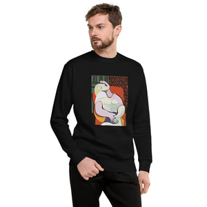 """Portrait"" Men's Fleece Pullover - Kerassi"