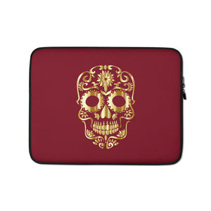 """Golden Skull""  Protective Laptop Sleeve - Kerassi"