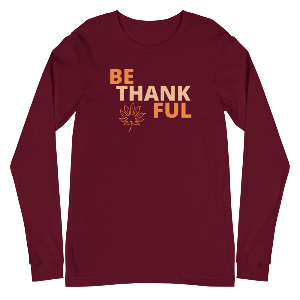 """Thankful"" Unisex Long Sleeve Tee - Kerassi"