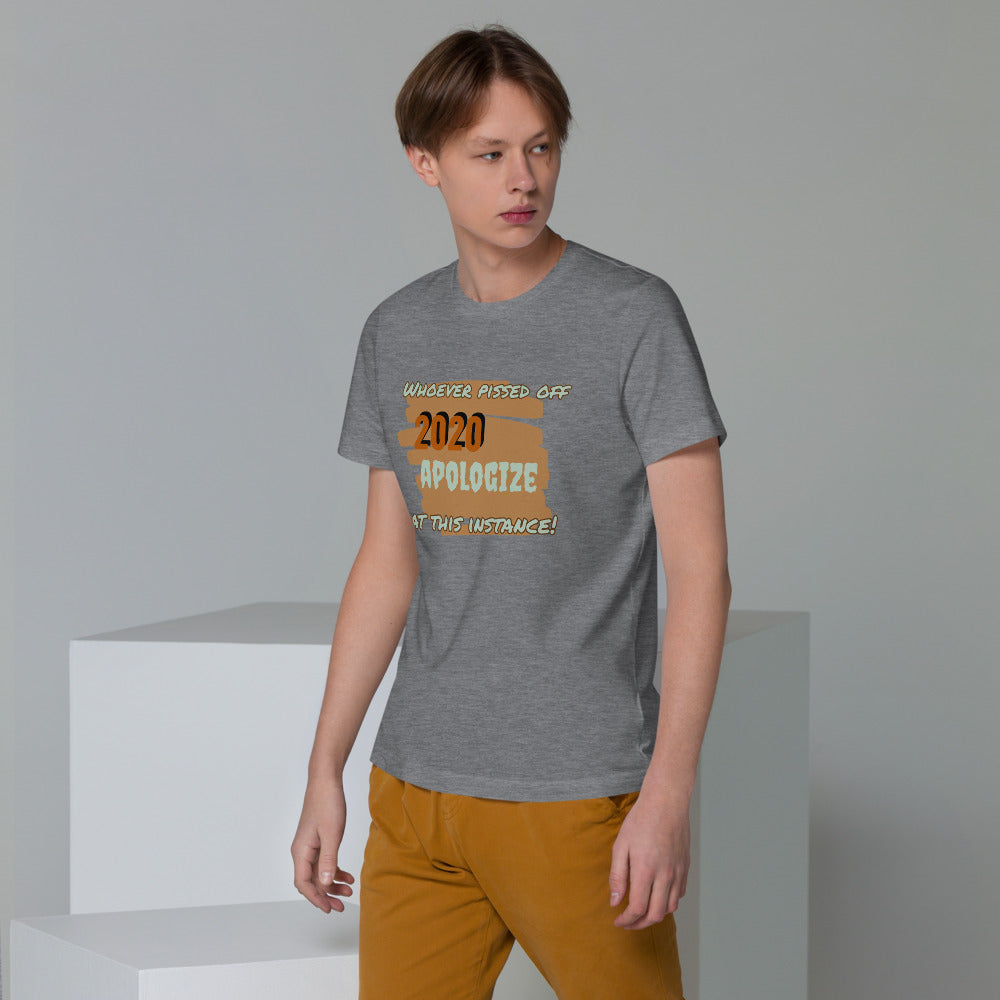 2020 Apologize Unisex Organic Cotton TShirt - Kerassi