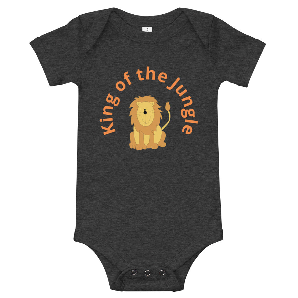 """Lion"" Kid's Short Sleeve 100% Cotton Onesie - Kerassi"