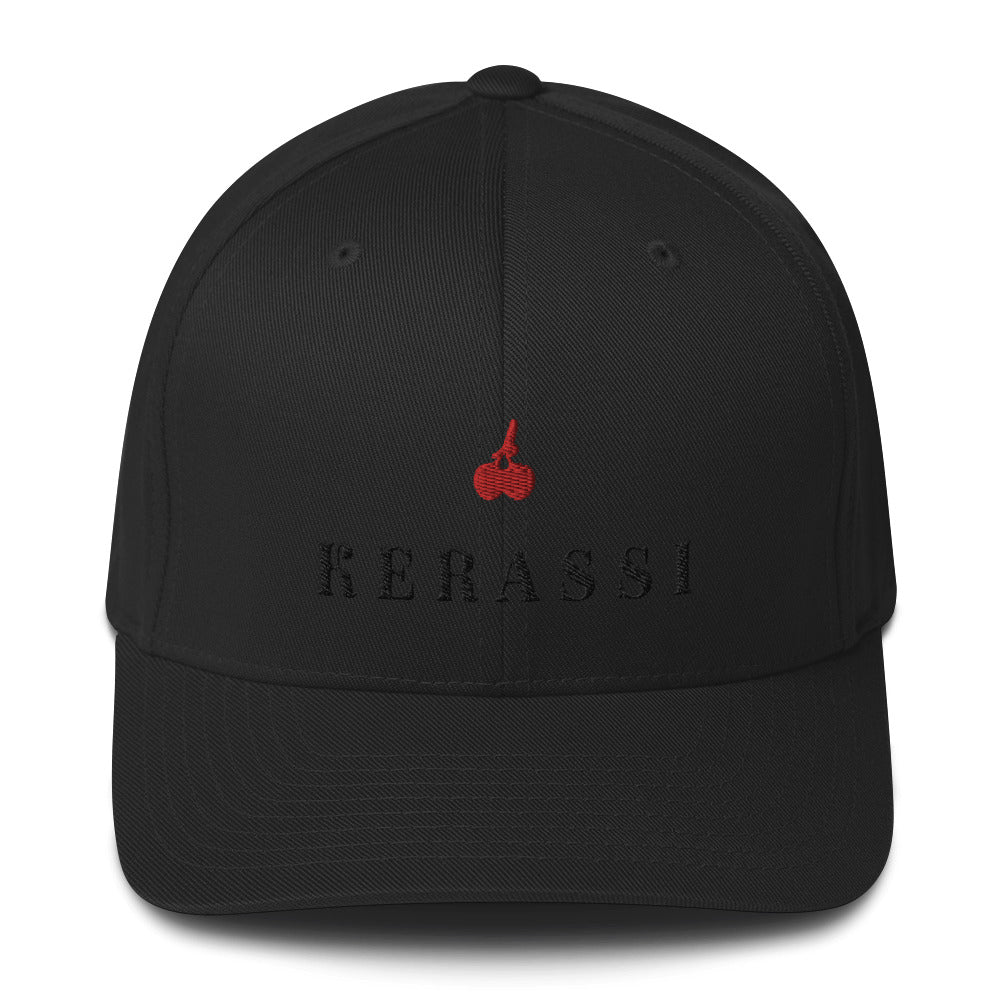 """Kerassi"" Embroidered Structured Twill Cap - Kerassi"