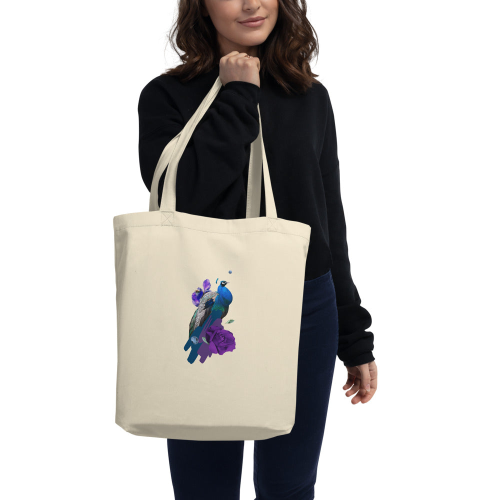 """Blue Bird"" Eco-Friendly Printed Tote Bag - Kerassi"
