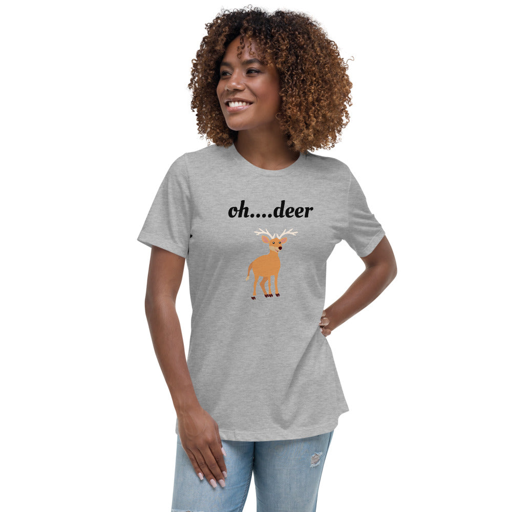 """Oh....deer"" Women's Relaxed T-Shirt - Kerassi"