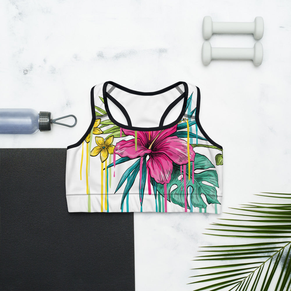 """Hawaii Print"" Summet Inspired ColorfulSports bra - Kerassi"