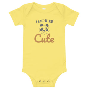 """Cutie"" Unisex Cotton Short Sleeve T-Shirt Onesie - Kerassi"