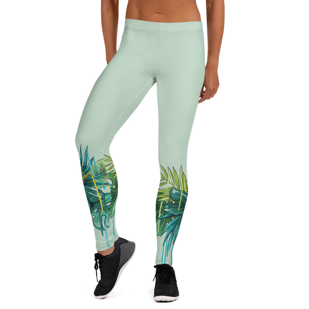 """Tropical Print"" Leggings - Kerassi"