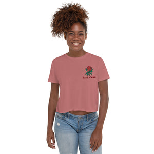 """Rose"" Crop Tee - Kerassi"