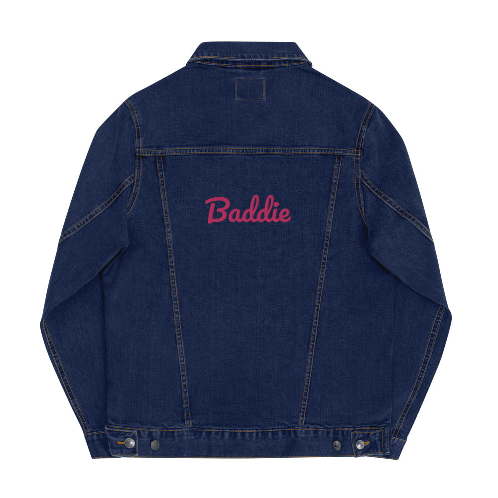 Baddie Embroidered Women's Denim Jacket
