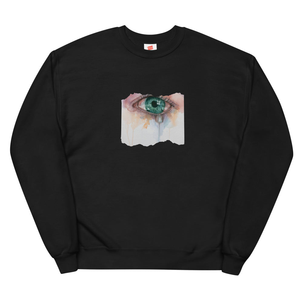 """Crying Girl"" Unisex fleece sweatshirt"