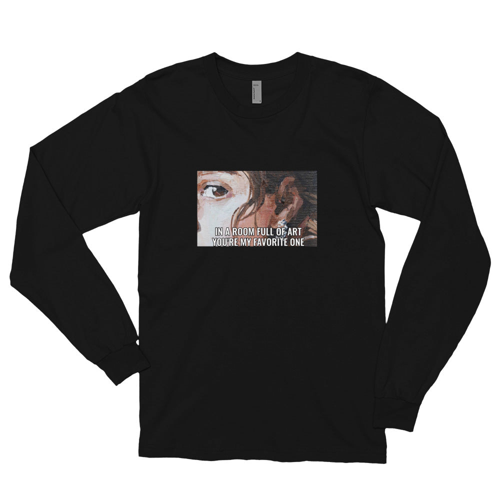 My Favorite Art Long Sleeve Cotton T-shirt