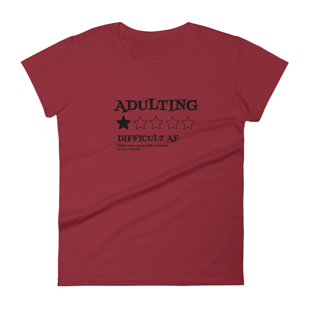 Adulting Sucks Unisex Short Sleeve Cotton T-shirt