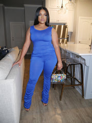 Friday Night Jumpsuit (Blue)