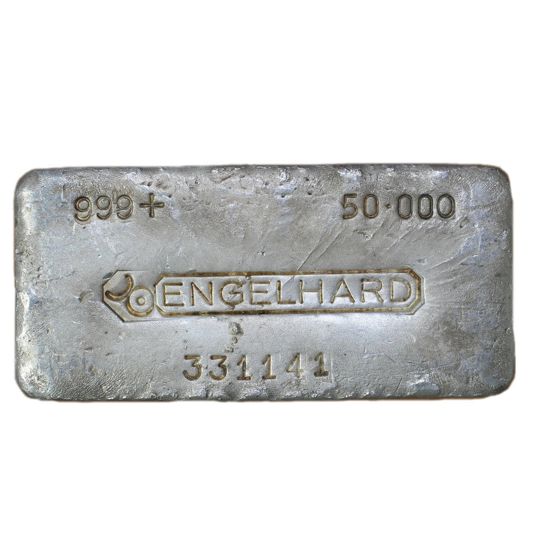 50 oz - Engelhard Silver Bar