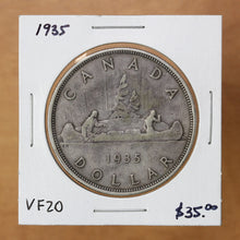 Load image into Gallery viewer, SOLD - 1935 - Canada - $1 - VF20 - retail $35